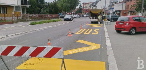 Obeležavanje ulica u Borči