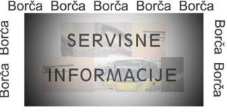 Borča servisne informacije