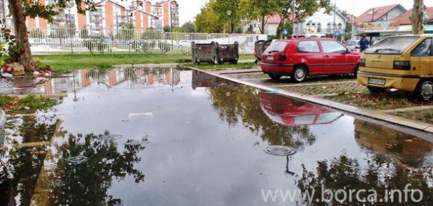 Izlivanje kanalizacije Borča