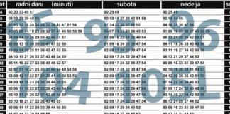 red voznje 85, 95, 96, 104, 105