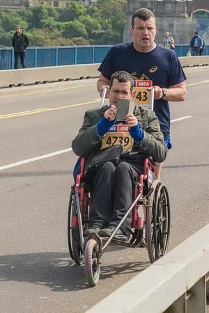 Vuk i Martin Hill na Beogradskom maratonu