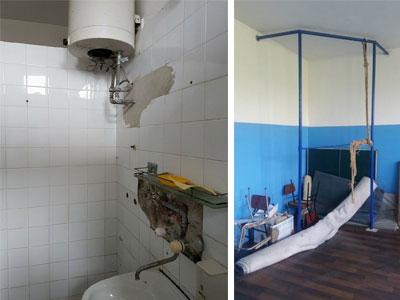 ruinirano kupatilo u školi