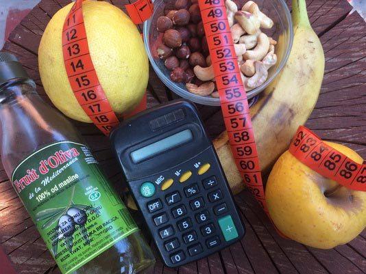 voće, metar, kalkulator