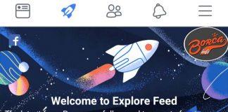 facebook - explore feed