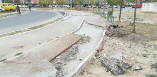 Uništena pešačka staza