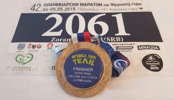 Fruškogorski ultra maraton - medalja