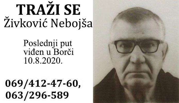 Traži se Živković Nebojša